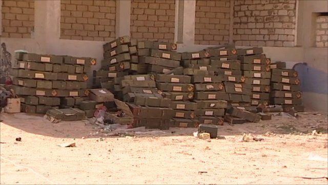 Old weapons dumped in Ajdabiya