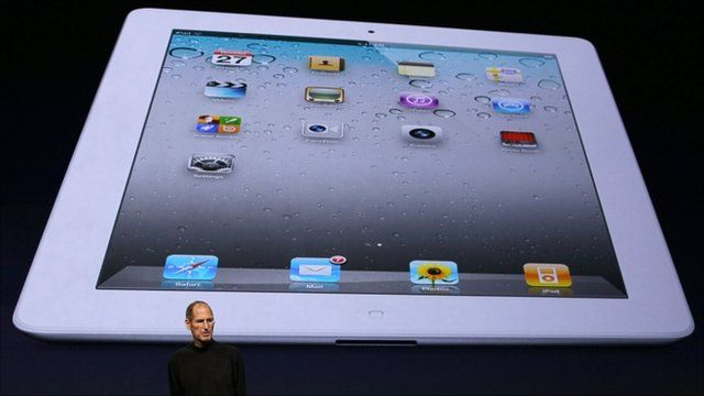 Steve Jobs at launch of iPad 2