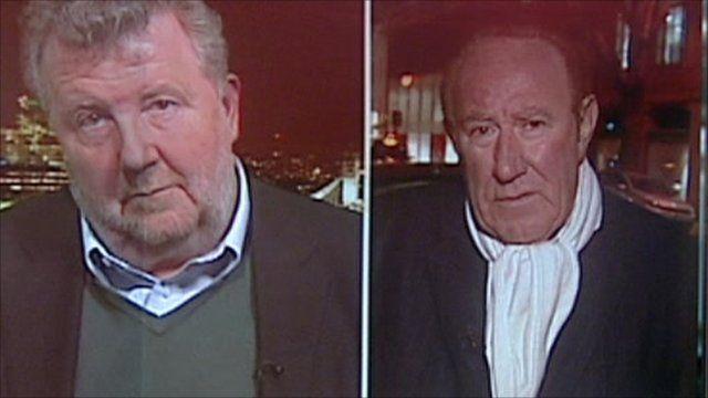 Media commentators Steve Hewlett and TV presenter Andrew Neil