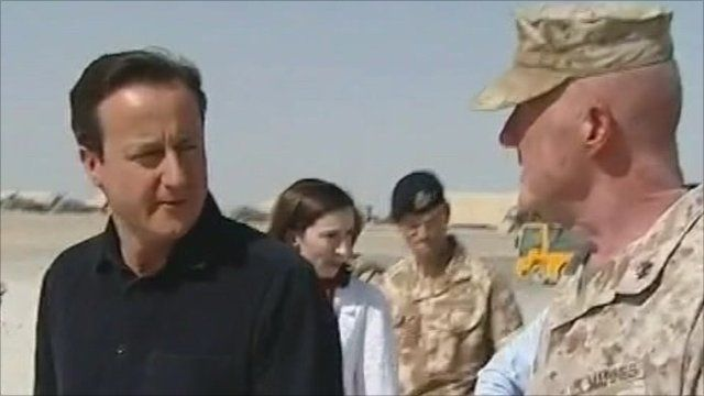 David Cameron in the desert
