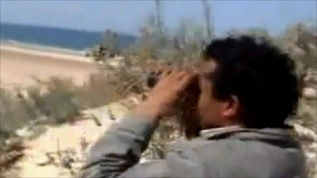 Footage said to show fighting in Brega