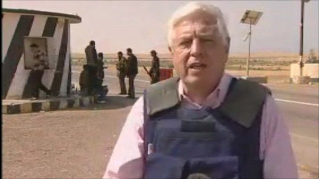 John Simpson on the front line