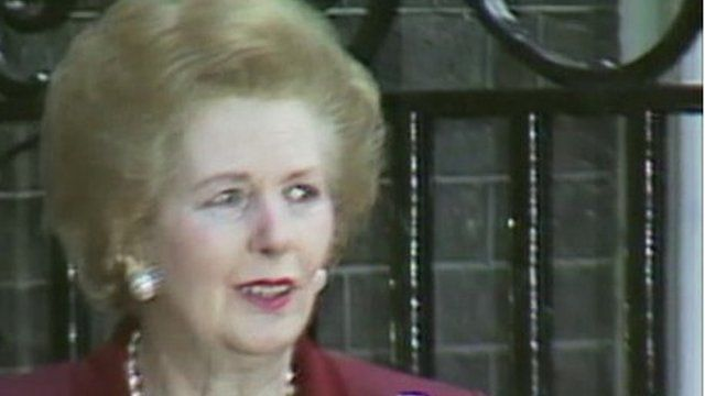 Margaret Thatcher in Downing Street