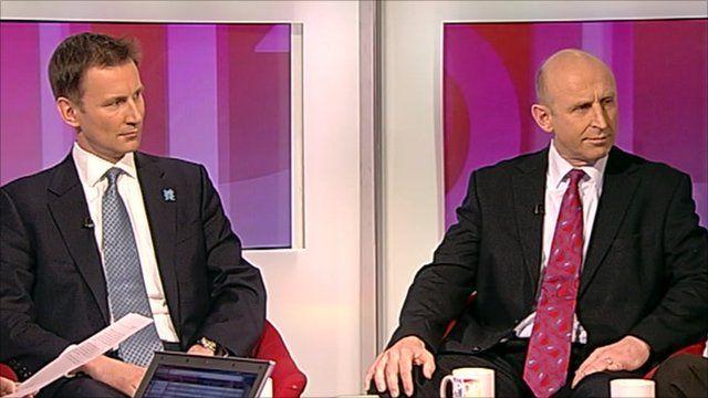Jeremy Hunt and John Healey