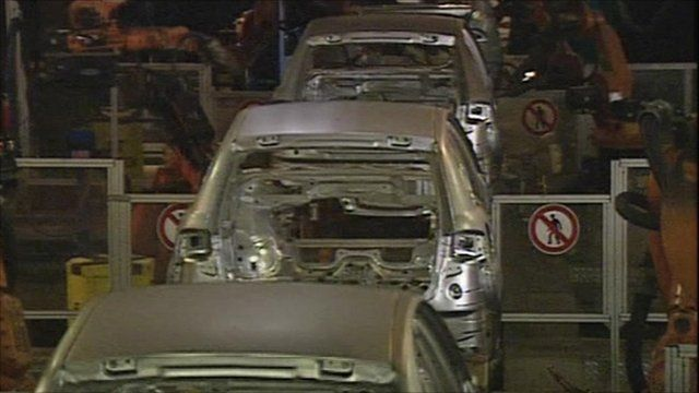 Inside a car manufacturing plant