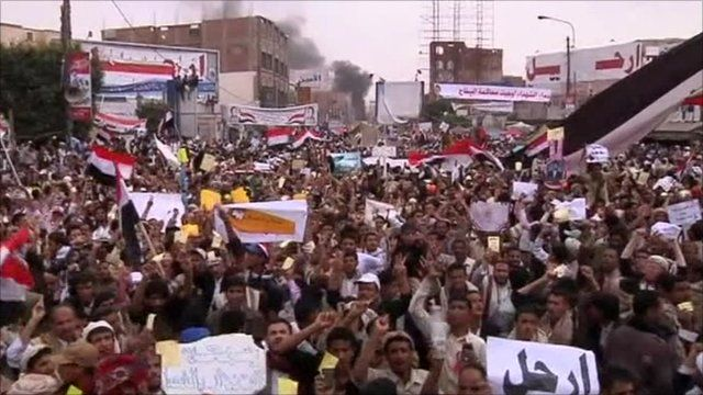 Protest in Sanaa today
