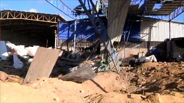 Gaza air strike aftermath