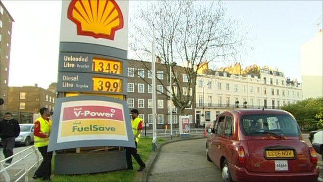 Shell petrol forecourt