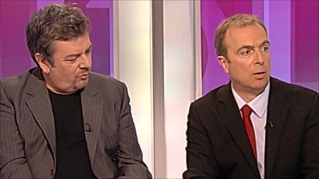 David Aaronovitch and Peter Hitchens