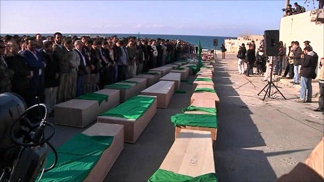 Coffins of civilians supposedly killed by coalition forces