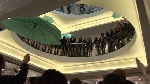 Fortnum & Mason department store in Piccadilly, London, UK