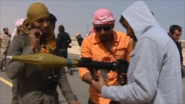 Rebel forces in Libya