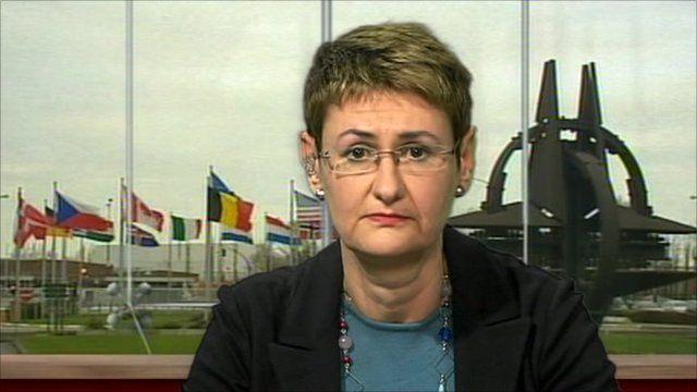 Nato spokeswoman Oana Lungescu