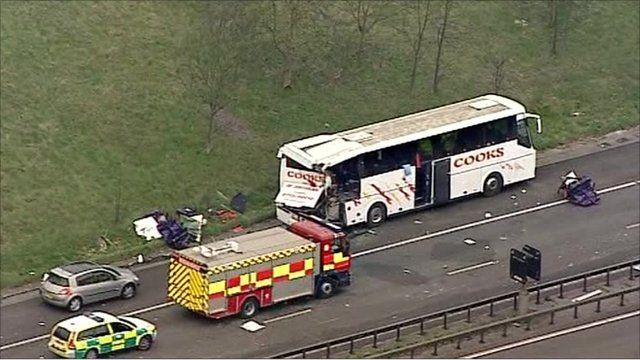 M11 crash scene