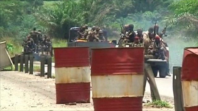 Troops in Ivory Coast