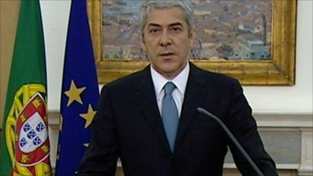 Portugal's caretaker prime minister Jose Socrates
