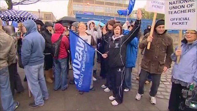 Teachers go on strike