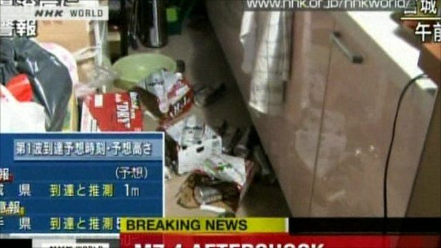 Drinks on the floor from earthquake