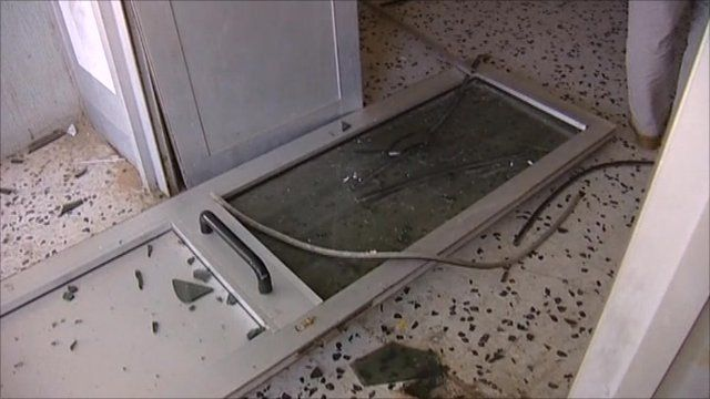 A damaged door