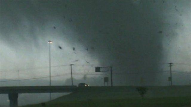 Tornado near road