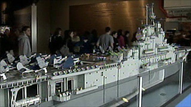 Lego model of USS Intrepid