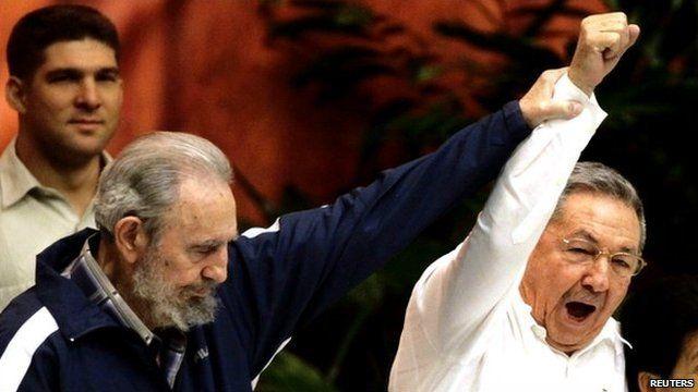 Fidel and Raul Castro