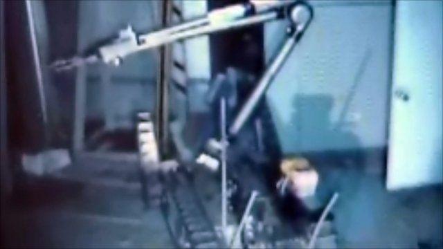Robot inside Fukishima nuclear plant