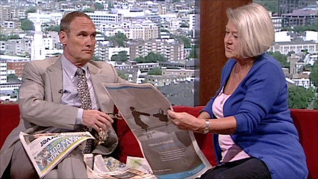 The Andrew Marr Show newspaper review with writer A.A. Gill and journalist Kate Adie