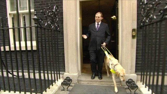 Sean Dilley leaving Downing Street