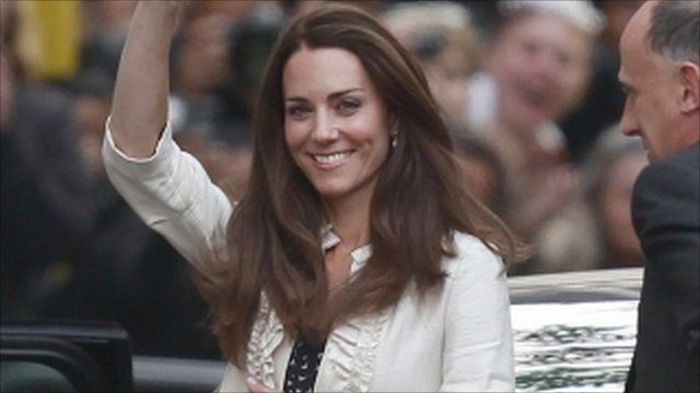 Kate Middleton arrives at the Goring Hotel the day before her wedding