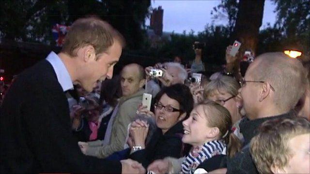 Prince William meeting crowds