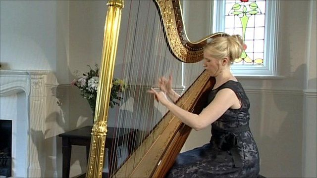 Claire Jones, the official harpist to the Prince of Wales