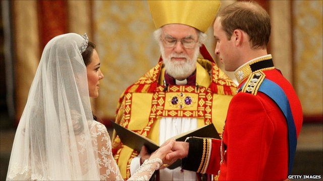 Media Player Prince William And Catherine Middleton Take Their Vows