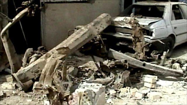 Bomb blast aftermath