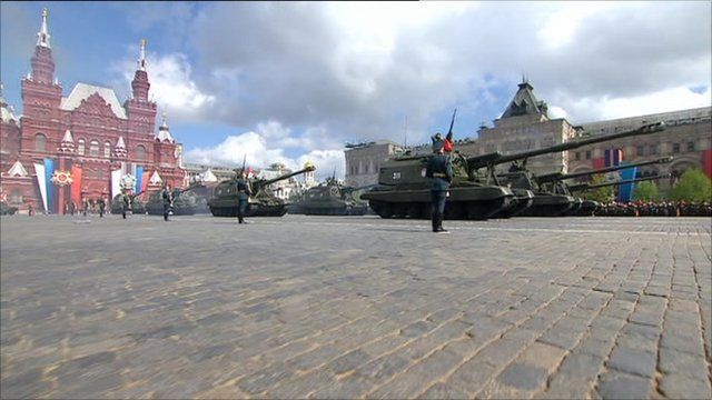 Red Square parade