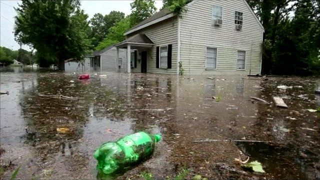 Floodwaters in Memphis