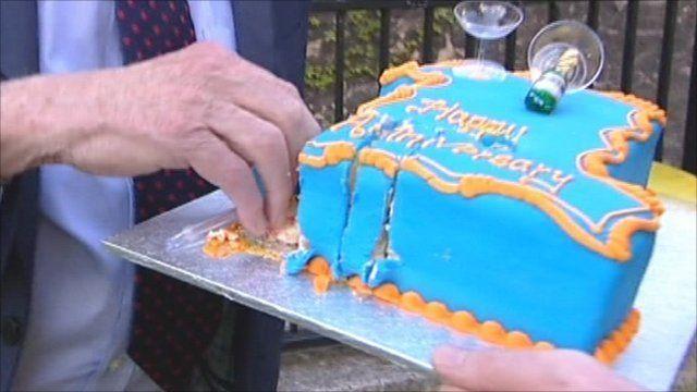Coalition birthday cake