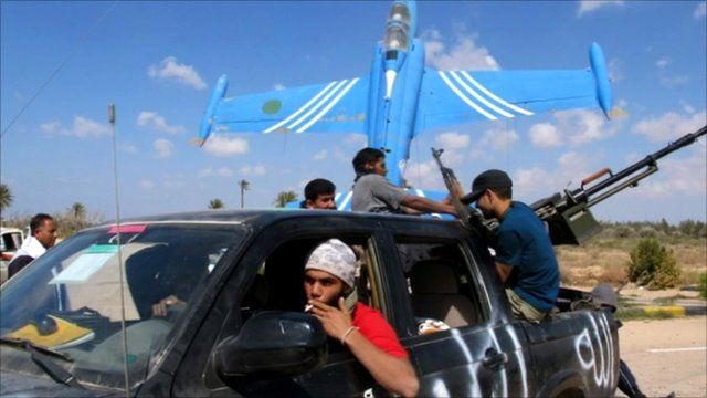 Opposition forces at Misrata airport