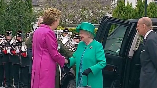 The Queen meets President Mary McAleese