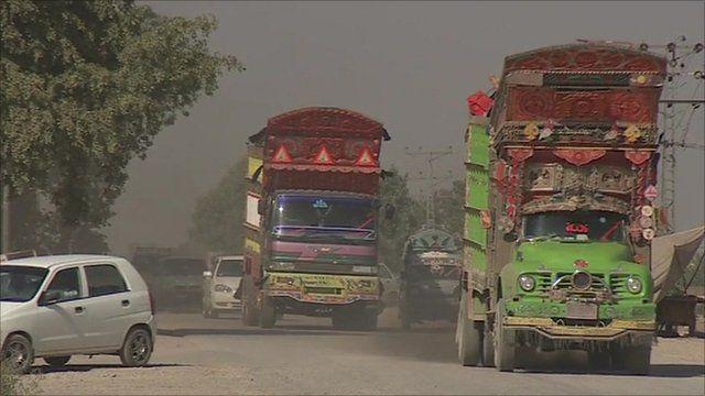 Lorries in Pakistan