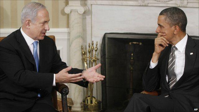 US President Barack Obama and Israeli PM Benjamin Netanyahu