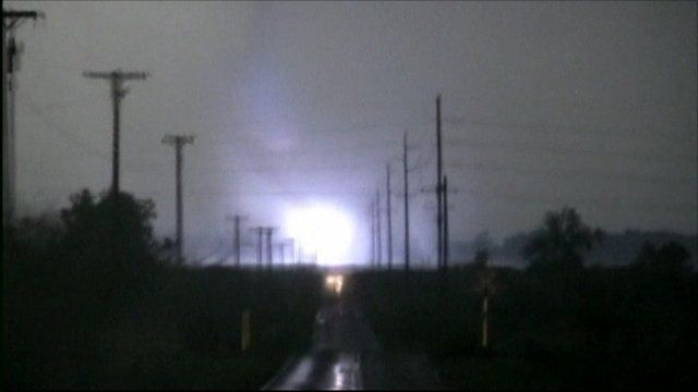 Lightening bolt during the tornado
