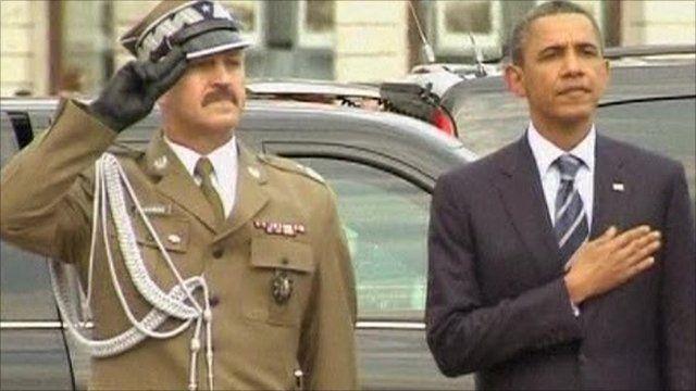 President Obama attends memorial service