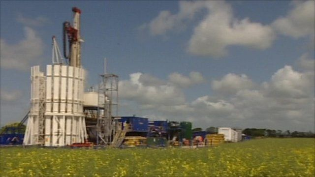 Shale gas drilling station