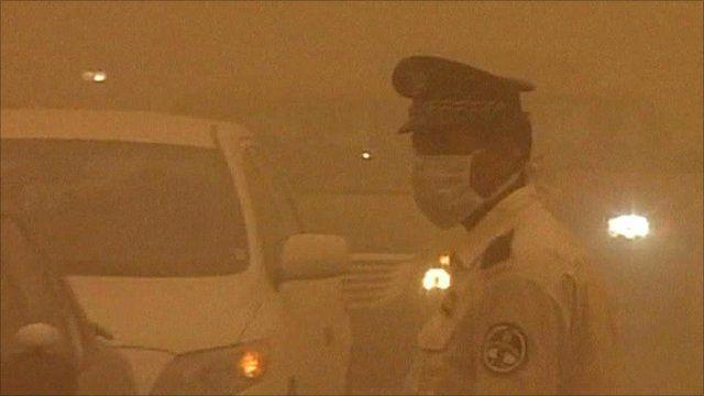 Sandstorm in Baghdad