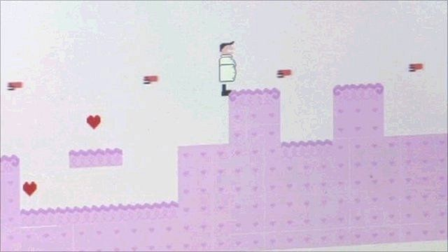 A screenshot of a video game developed at Babycastles' game jam