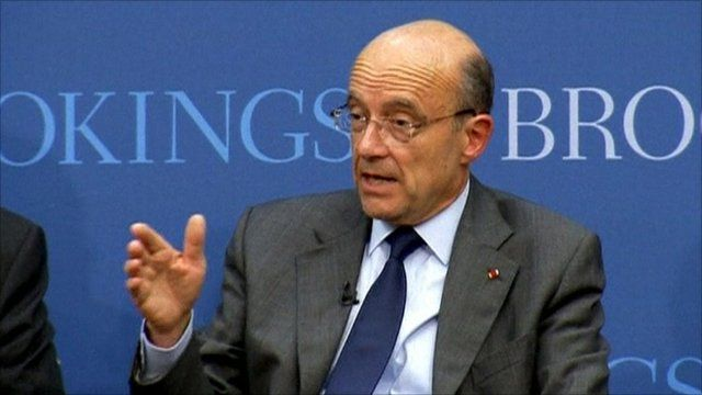 French Foreign Minister Alain Juppe