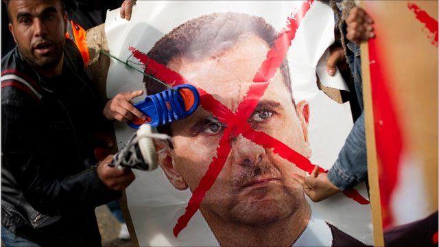 Protesters to Syrian President Bashar al-Assad