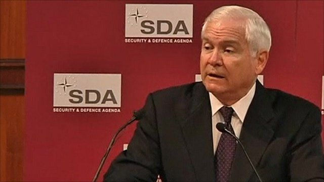 US Defence Secretary Robert Gates