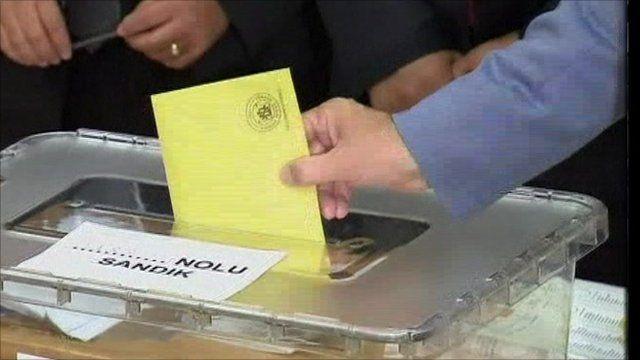 Polling station in Turkey